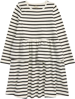 Tucker + Tate Kids' Sweet Play Stripe Long Sleeve Tiered Dress