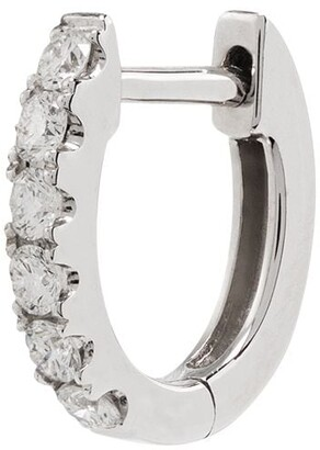 Roxanne First 14kt White Gold And Diamond Hoop Earring