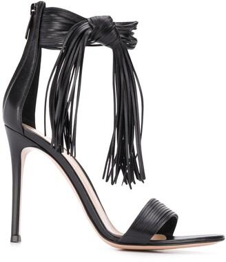 Gianvito Rossi Fringe Detail Sandals