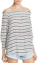 Faithfull The Brand Calo Off-the-Shoulder Stripe Top