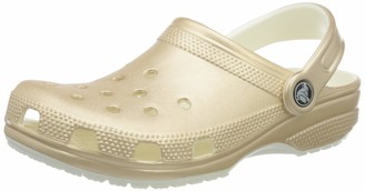 Crocs Unisex Classic Sparkly Shimmer Clog | Metallic and Glitter Shoes