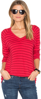 Velvet by Graham & Spencer Arianna Stripe V Neck Tee