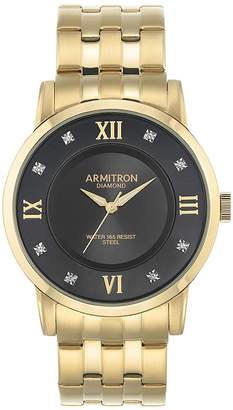 Armitron All Sport Mens Gold Tone Stainless Steel Bracelet Watch-20/5251bkgp