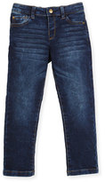 Mayoral Faded Stretch Straight-Leg Jeans, Blue, Size 3-6