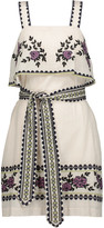 Suno Embroidered cotton-broadcloth mini dress