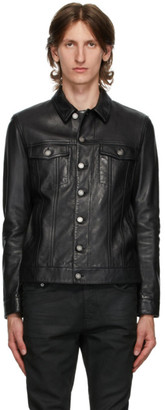 Saint Laurent Black Classic Leather Jacket