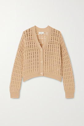 Vince Cable-knit Cotton Cardigan - Beige