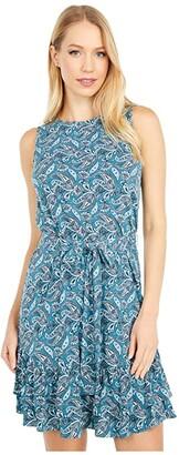 MICHAEL Michael Kors Arabesque Ruffle Dress (Spa Blue) Women's Dress