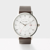 Paul Smith Men's White And Brown 'Gauge' Watch