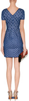 Missoni Navy Patterned Knit Dress with White Lining