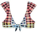 Mara Hoffman Plaid cap-sleeve bikini top