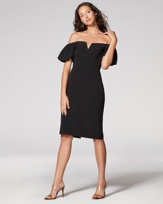 Vince Camuto Puff-sleeve Off-the-shoulder Dress
