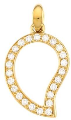 Tamara Comolli Siganture Wave 18K Yellow Gold & Diamond Pave Large Pendant