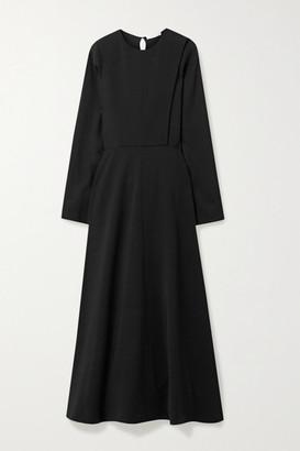 The Row Cobai Paneled Cady Maxi Dress - Black