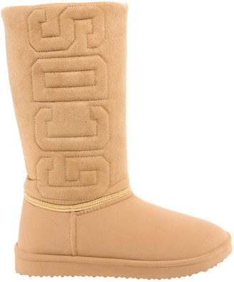 GCDS Logo Embroidered Boots