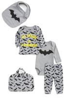 Eleven Paris Infant Boy's Little Elevenparis My Father Is A Superhero - Bat Five-Piece Gift Set