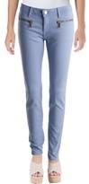 MICHAEL Michael Kors Womens Izzy Mid-Rise Zipper Pockets Skinny Pants