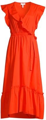 Escada Sport Faux Wrap Ruffle Dress