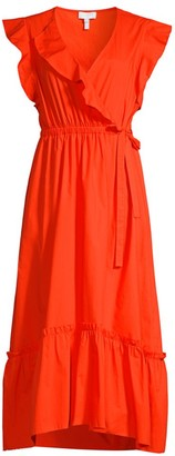 Escada Sport Faux Wrap Ruffle Dress