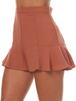 MinkPink Womens Fluted Short Brown