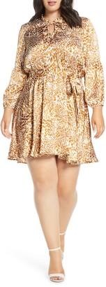 Gibson X City Safari Tara Tie Neck Satin Dress
