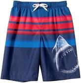 Big Chill Shark Swim Trunks - UPF 50, Built-In Mesh Briefs (For Little Boys)
