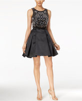 Xscape Evenings Two-Piece Beaded Fit & Flare Dress