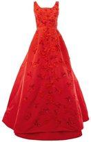 Oscar de la Renta flower embellished dress