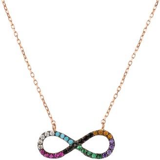 Latelita Infinity Eternity Rainbow Necklace Rosegold