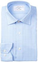 Lorenzo Uomo Long Sleeve Trim Fit No Wrinkle Glenn Plaid Dress Shirt