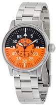 Fortis Flieger Cockpit Automatic Stainless Steel Mens Watch Black & Orange Dial 595.11.13.M