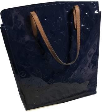 Louis Vuitton Plat Navy Patent leather Handbags