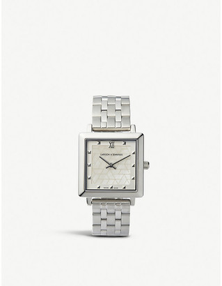 Larsson & Jennings Bernadotte silver-plated stainless steel watch