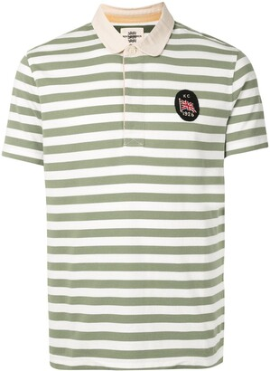 Kent & Curwen Logo-Embroidered Striped Polo Shirt