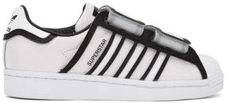 adidas White and Black Ji Won Choi and Olivia OBlanc Edition Fashion Designer Series Superstar Sneakers