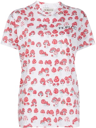 Fiorucci oversized mushrooms-print T-shirt