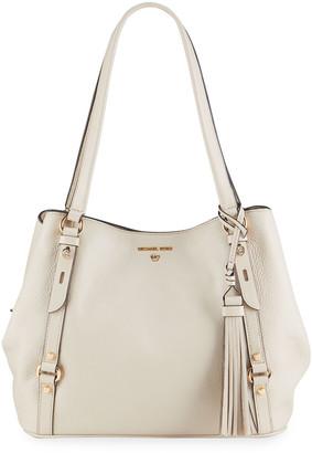 MICHAEL Michael Kors Carrie Leather Shoulder Tote Bag