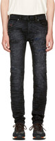 Diesel Black Thommer Scratch Jeans