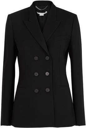 Stella McCartney Black Double-breasted Wool Blazer