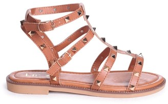 Linzi BILLIE - Tan Studded Gladiator Sandal With Embellished Sole