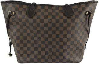 Louis Vuitton Neverfull Brown Leather Handbag