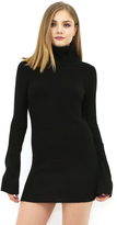 West Coast Wardrobe Fontana Turtleneck Sweater Dress in Black