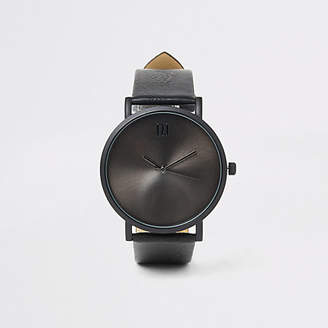 River Island Black round face watch
