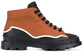 Camper dual-tone lace-up boots