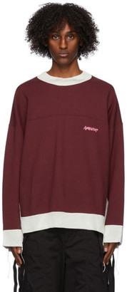 Ambush Red and Beige Mix Sweatshirt