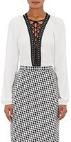 Altuzarra Women's Yuba Embellished Crêpe De Chine Top-WHITE
