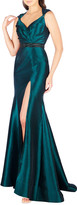 Mac Duggal 6-Week Shipping Lead Time Sweetheart Sleeveless Taffeta Gown with Embellished Waist