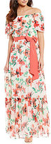 Jessica Howard Off-the-Shoulder Floral Maxi Dress