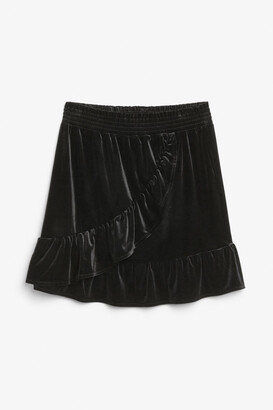 Monki Ruffle mini skirt