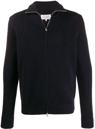 Maison Margiela Ribbed Zipped Cardigan